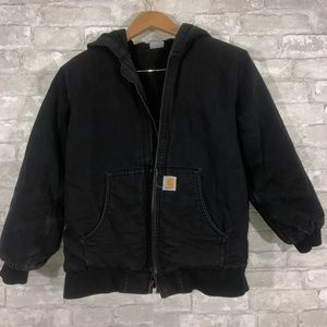 Boys Carhartt Black Coat Size L